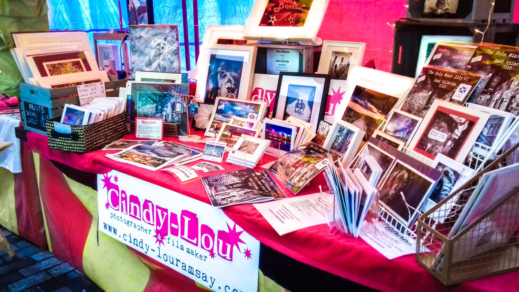 Cindy Lou Ramsay Photography stall