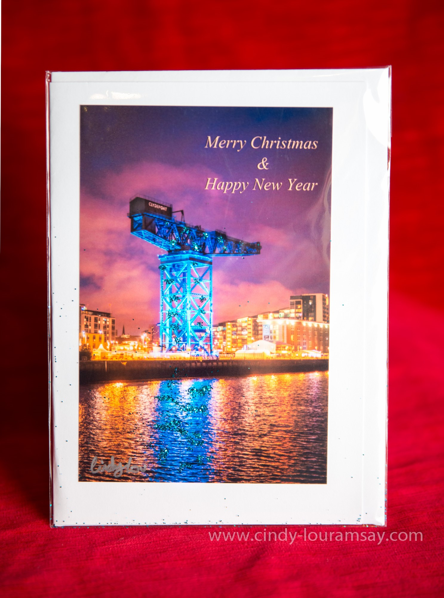 Glasgow Christmas Card by Cindy Lou Ramsay Finnieston Crane